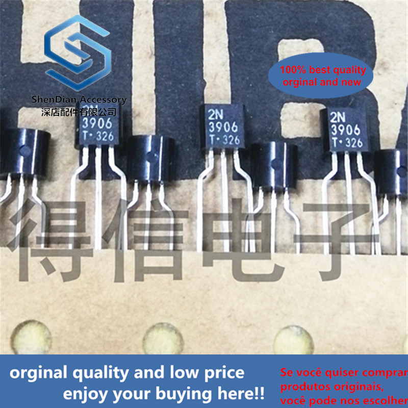 30pcs 100% Orginal New 2N3906 3906 TO-92 TRANSISTOR (PNP) Real Photo