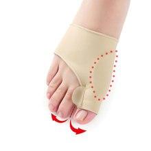 2 pçs = 1 par grande dedo do pé hallux valgus corrector orthotics pés cuidados osso polegar ajustador correção pedicure meias bunion straightener