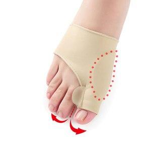 Image 1 - 2Pcs = 1 זוג גדול הבוהן בוהן Valgus מתקן מדרסי רגליים טיפול עצם אגודל שמאי תיקון פדיקור גרבי פיקה מחליק