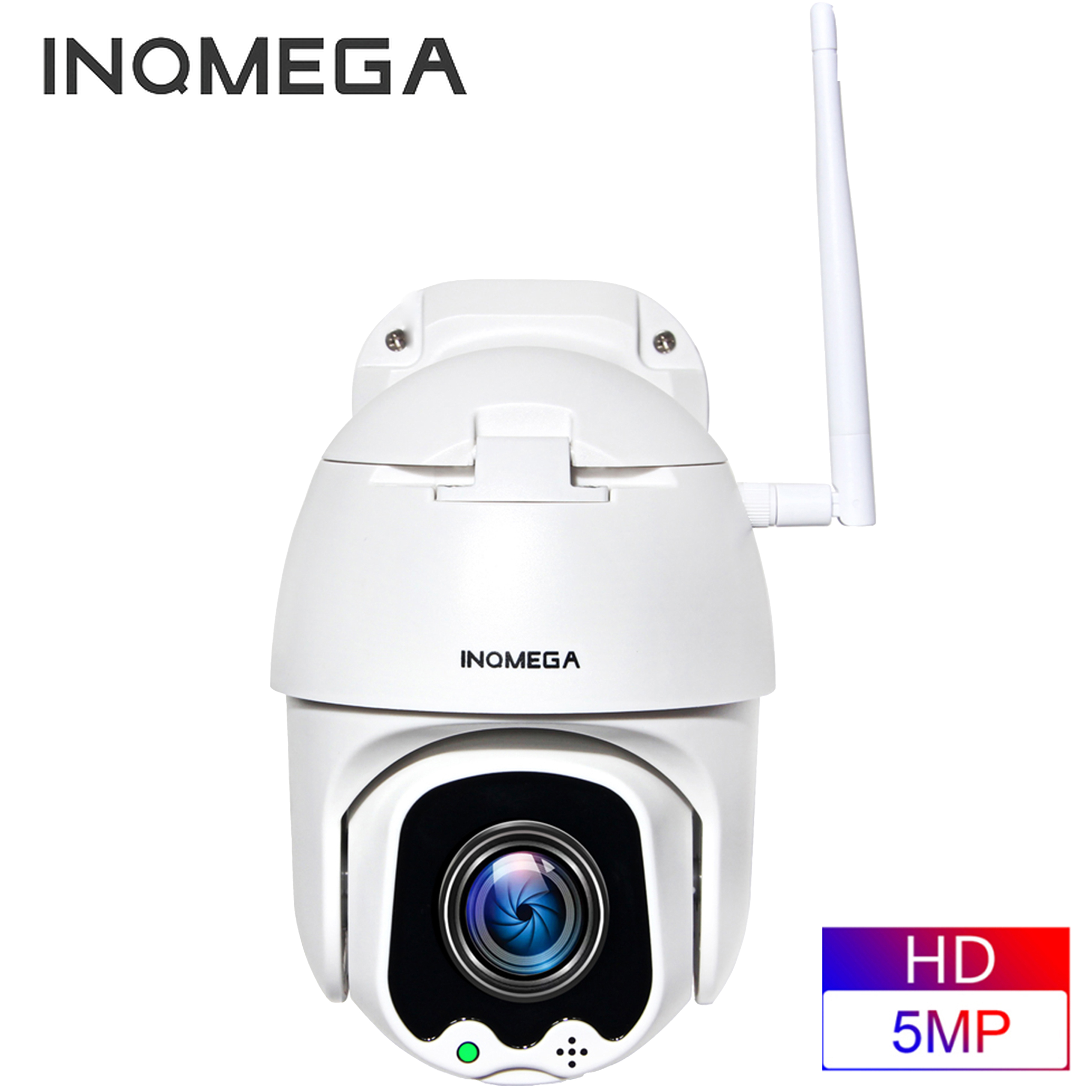 INQMEGA 5MP FHD PTZ Smart Surveillance IP Camera Speed Dome WiFi Wireless 4X Digital ZOOMOutdoor Security Waterproof CCTV Camera