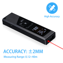 Measuring-Meter Laser-Rangefinder Distance Digital Handheld 40M Mini Usb-Charging Aluminium-Alloy