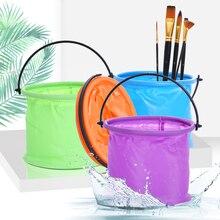 High Capacity Foldable Plastic Painting Brush Washing Bucket Wash Pen Barrel Student Drawing Brush Washer For School Art tool