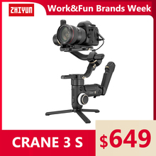 ZHIYUN Official Crane 3S-E/Crane 3S 3-Axis Handheld Gimbal Payload 6.5KG for Video Camera  DSLR Camera Stabilizer New Arrival zhiyun crane 2 accessories zw b02 wireless remote control monitor for crane plus crane v2 crane m handheld camera stabilizer