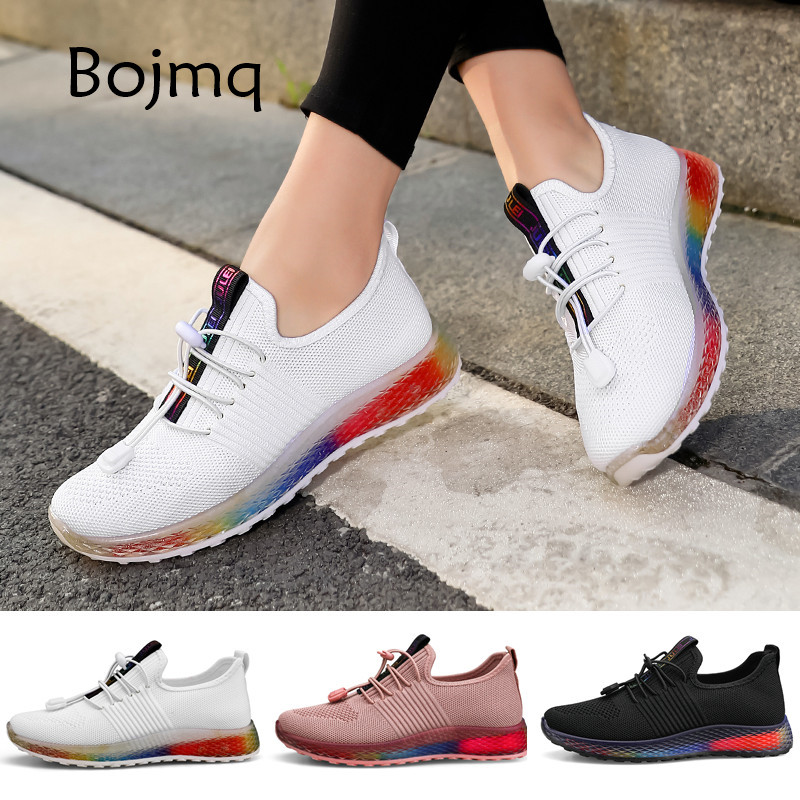 Bojmq Tenis Mujer 2020 New Women Tennis Shoes Ladies Outdoor Walking Sneakers Stable Non-slip Fitness Sport Shoe Female Footwear