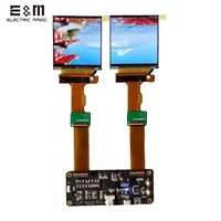 2.9 inch 2K 1440*1440 120Hz Dual LCD Screen DP to MIPI Driver Board Monitor for AR VR MR HMD Headset Display DIY Kits