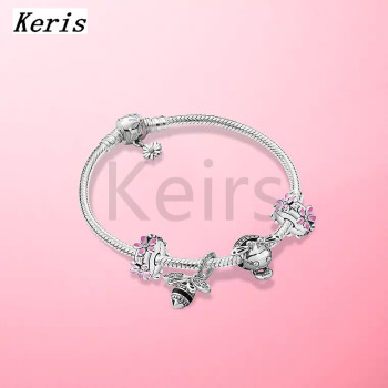 2020 New Limited High-Quality 1:1 925 Silver Chrysanthemum String Ornaments Bee DIY Bracelet Set Free Delivery