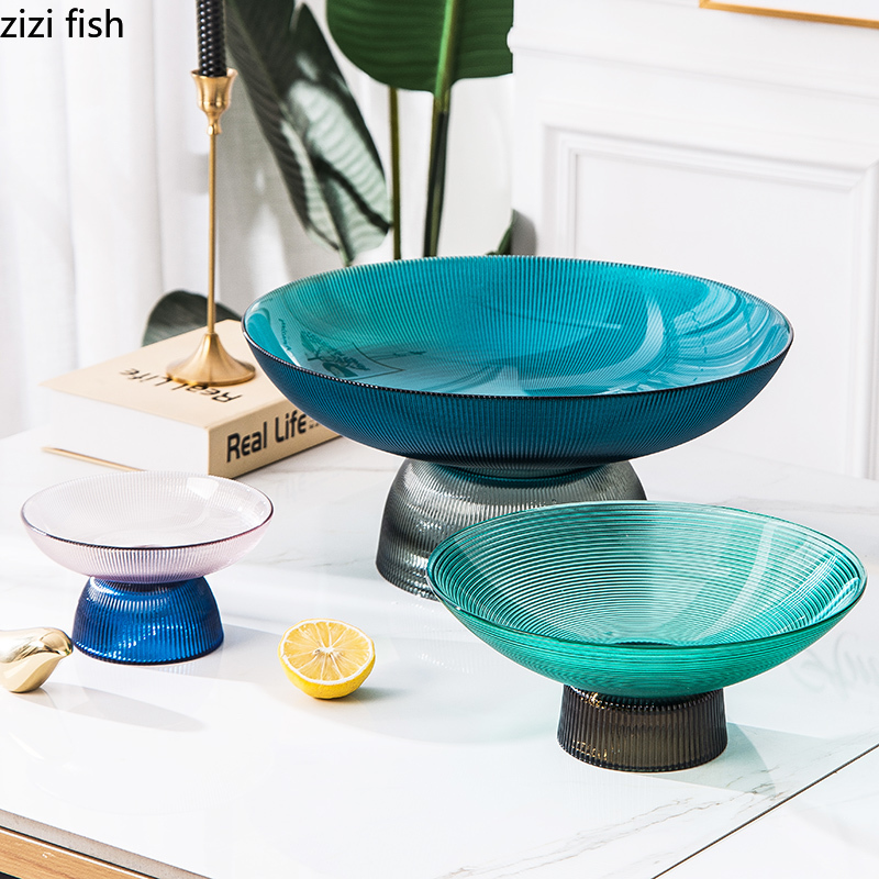 Stained Glass Fruit Bowl Food Dishes Dessert Snack Dish Quality Serving Trays Coffee Table Tea Saucer Cake Stand Large Plate Dishes Plates Aliexpress