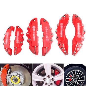 New 2Pcs Car disc brake Caliper Cover 3D Word Red Brake cover Fit to 14-18 Inches Car 2 M and 2 S Universal Kit for Brembo 1