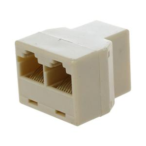 RJ45 3 Way Network Cable Splitter Extender Plug Coupler