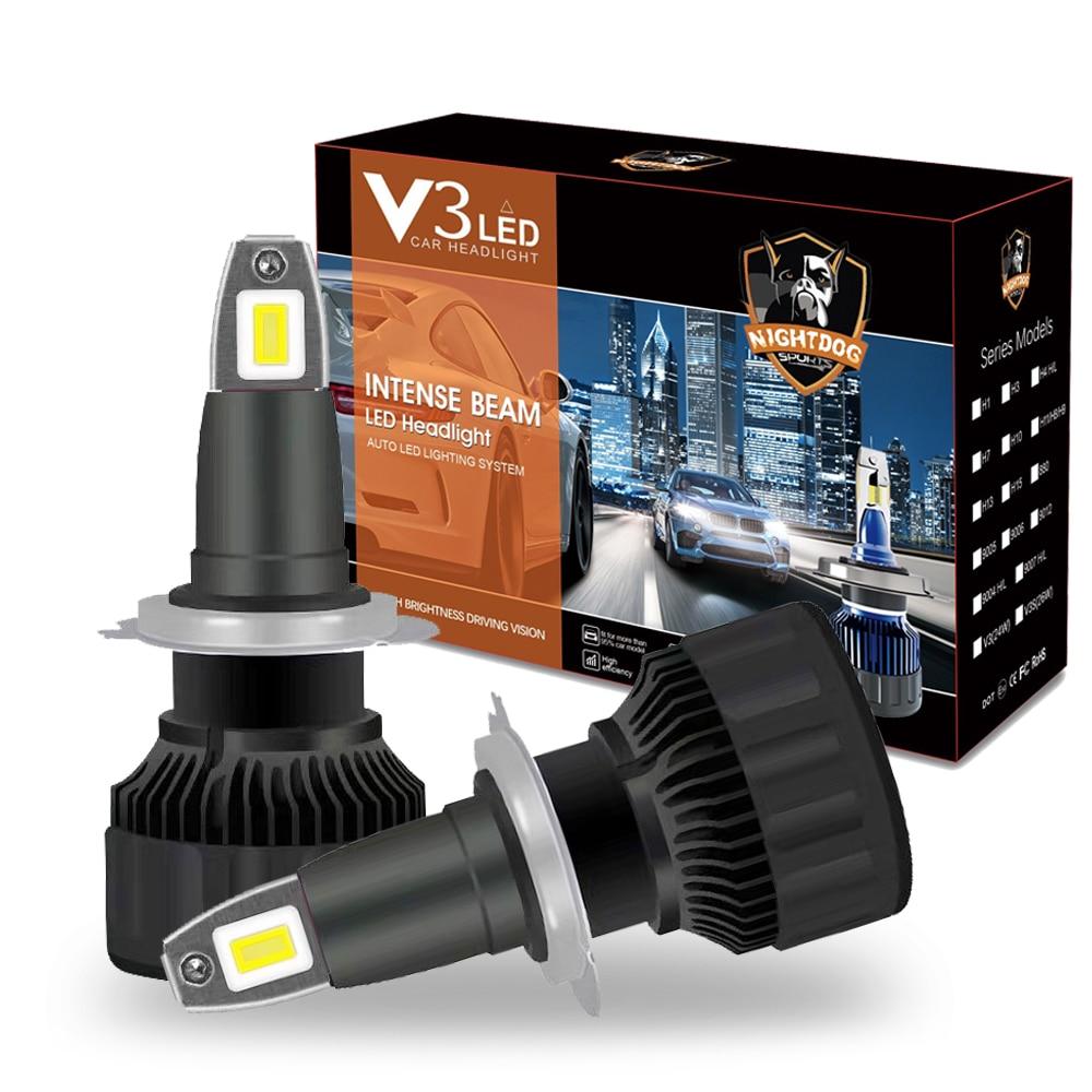 Новинка, Автомобильные светодиодные фары ETI chipH1 H7 H8 H11 H9 9005 9006 9012 HIR2 H3, автомобисветильник Противотуманные фары 6000 лм, светодиодный ные фары K ...