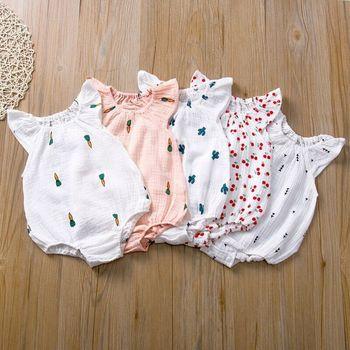 Baby Girls Romper Summer Infant Unisex Newborn Sleeveless Girls Print One-pieces Jumpsuit Baby Cotton Linen Soft Clothes Outfits и н сергеев в с панферов егэ 2019 математика 1000 задач с ответами и решениями все задания части 2 профильный уровень