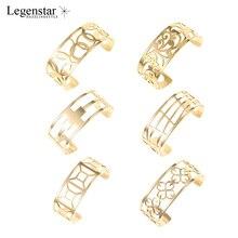Legenstar Love cuff Bracelets for Women Gold 25MM Stainless Steel Cuff Bangle Flower Jonc Argent Pulseiras gift 1 pcs leather