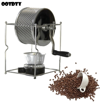 Portable Manual Coffee Bean Roaster Set Stainless Steel Mill Hand Crank for Home Travel Camping Adjustable Handy Kitchen Tools