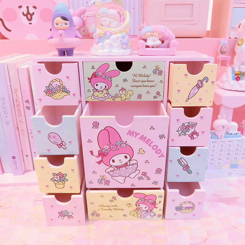 Japanese Anime Melody Wooden Boxes packing boxes jewelry, candy box small storage boxes cans coin earrings gift box