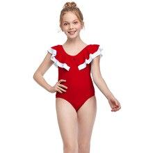 Jumpsuit Swimwear Baby-Girl Romper Backless Ruffles Vogue Children's Summer New