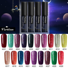 Verntion Kuku Gel Polandia 5 Ml Rainbow Neon Hybrid Kuku Pernis Manikur Set untuk Dekorasi Perlu Base Top Coat UV LED Gel Nail(China)