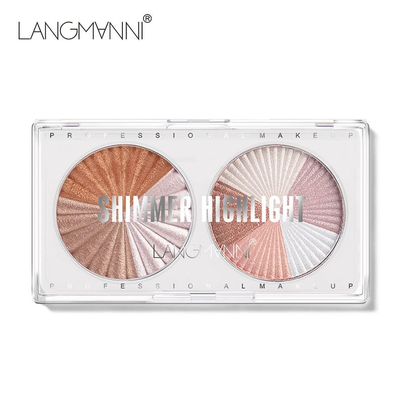 Highlighter Facial Mixed Color High Gloss Makeup Delicate Multi Function Practical Decoration Bronzers Palette Cosmetics TSLM1