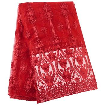High Quality 2019 African French Lace Red Fabric Swiss Voile Lace in Switzerland With Stones Lace Fabric 2019 high quality african french lace fabric blue swiss voile lace in switzerland with stones lace fabric