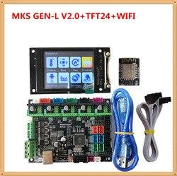 Mks gen l v2.0 + mks tft24 lcd tela sensível ao toque barato 3d cartão eletrônico tft de 2.4 polegadas display opentbuilds para impressora 3d starter
