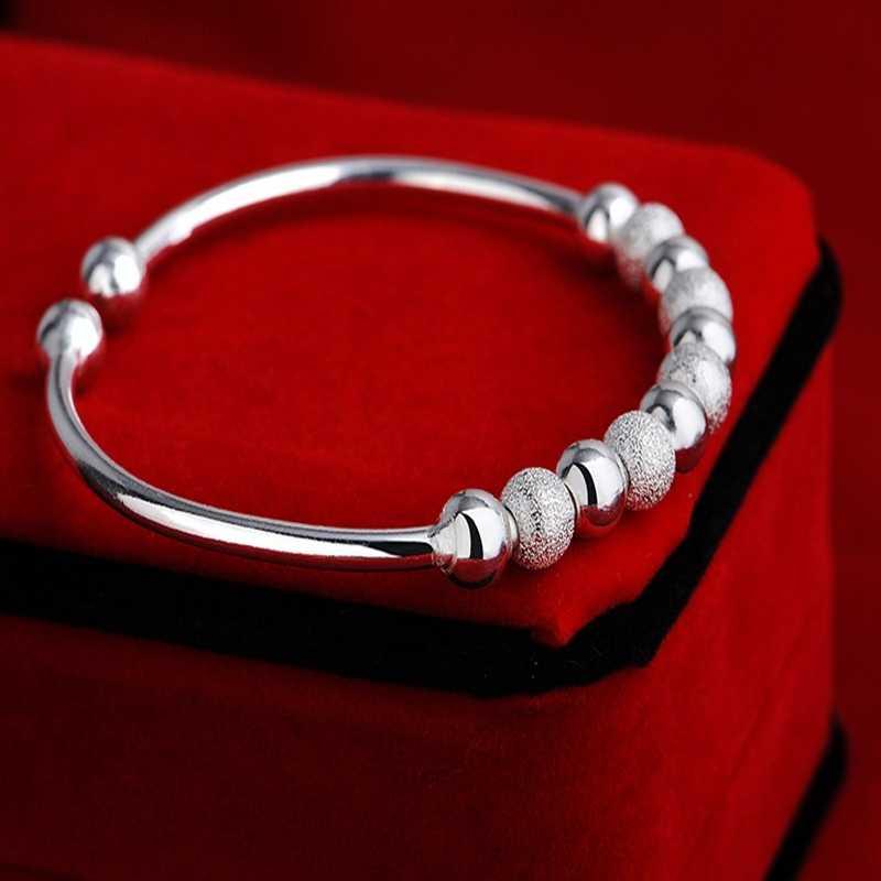 Lucky Manik-manik Gelang Pulseira Terbuka Manset Gelang Gelang untuk Wanita Perhiasan Pulceras Y Brazaletes Mujer