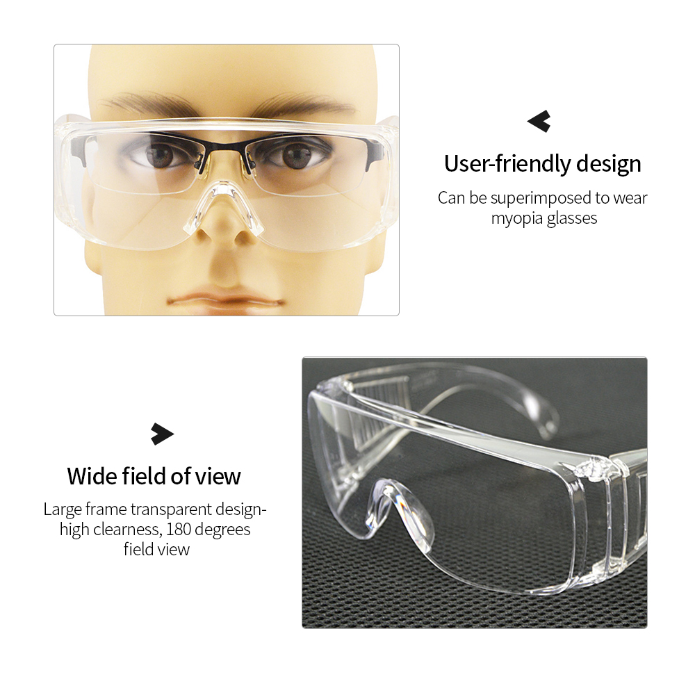 Clear Eye Protective Safety Glasses Spectacles Protection Goggles Eyewear Work k