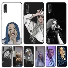 Music Singer Star Billie Eilish for huawei mate 30 pro p20 p30  20 lite Clear Soft Silicone Phone Case