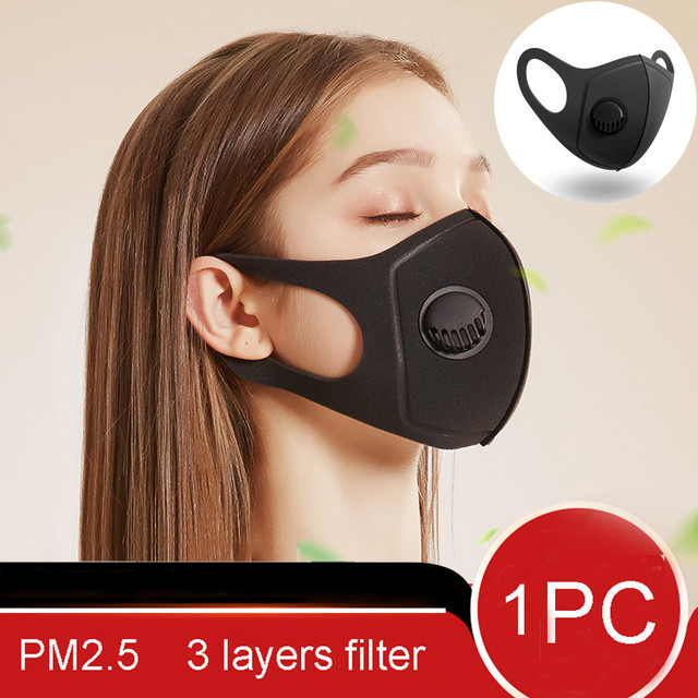 #Z40 1PC Unisex Reusable Dustproof Dust PM2.5 Mouth Mask Haze Anti Pollution Filter Respirator Facial Protective Cover Masks 3