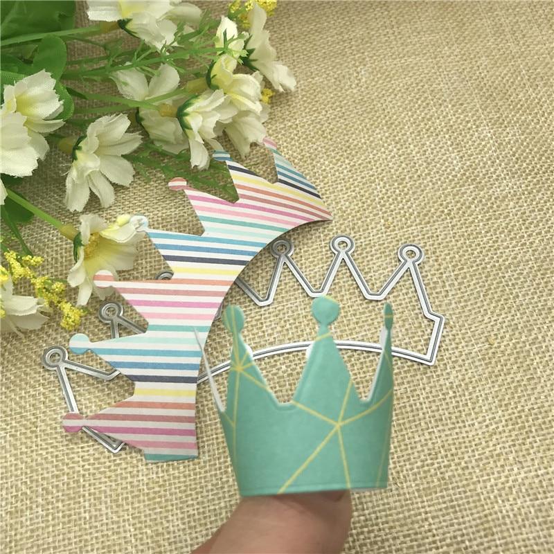 Crown Headdress Ornaments Metal Cutting Dies Stencils Die Cut For DIY Scrapbooking Album Paper Card Decorative Crafts Party Gift