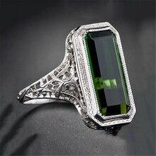 Anillo de esmeralda de Plata de Ley 925 para mujer, bisutería de Esmeralda pura para mujer, joyería de piedras preciosas 925, Bisutería