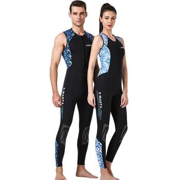 DIVE & SAIL sleeveless diving suit 3MM neoprene one-piece spearfishing wetsuit men women snorkeling surfing Sun-proof swimwear