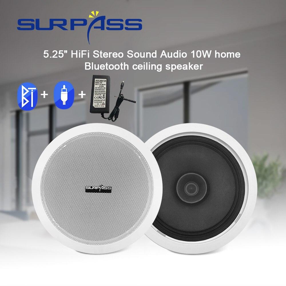 Home Ceiling Bluetooth Speaker Built In Digital Class D Amplifier 5.25