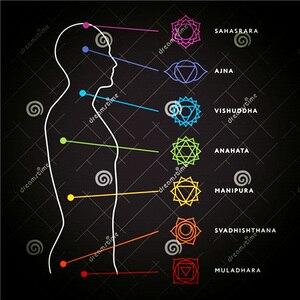 Image 3 - Se me moda 7 chakra pulseira masculino lava preta cura equilíbrio contas reiki buda oração pedra natural yoga pulseira mulher jóia