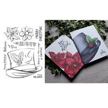 Frosty #8217 s Hat Christams 2020 nowe przezroczyste znaczki do majsterkowania papier do scrapbookingu robienie kartek artykuły rzemieślnicze wyczyść znaczki tanie tanio CN (pochodzenie) cutting dies stamps for scrapbooking Pieczątka standardowa RUBBER dekoracja