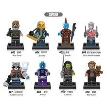 цены X0159 Model Building Blocks Figures Guardians Nebula Gamora Yondu Drax Deatroy Learning Blocks Toys for Children Birthday Gifts