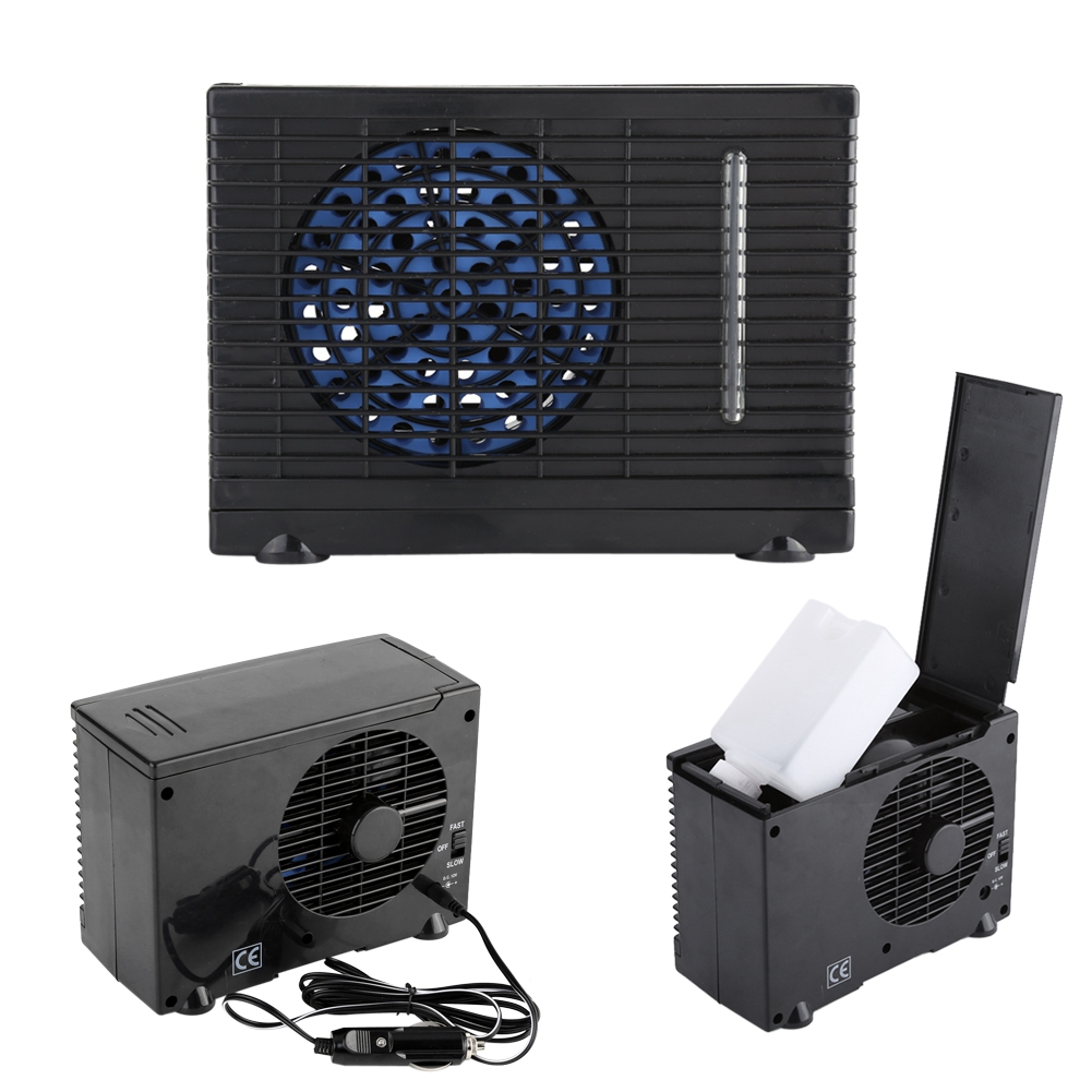 Low Energy Consumption Adjustable Two Speed Switch Portable 12V Car Truck Home Mini Air Cooler Evaporative Water Cooling Fan