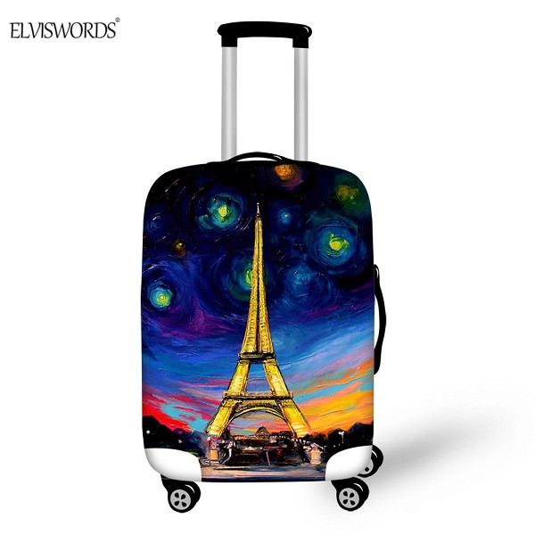 ELVISWORDS Luggage Cover Eiffel Tower Printing For 18