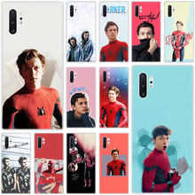 Caliente Marvel Spiderman Tom Holland caso para Samsung Galaxy S10E S10 5G S9 S8 S7 borde Nota 10 Plus 9 A9 A8 A7 A6 Plus 2018 A5 2017(China)