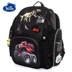 Mochilas de escuela para niñas con patrón 3D SUV Delune 2019 mochilas de búho de dibujos animados para niños mochilas ortopédicas mochilas infantiles