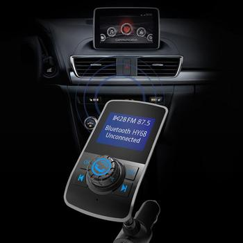 Portable 1.44-inch Large Screen Car MP3 Hansfree FM Radio Dual Ports USB Charger Music Player Support TF Card AUX-IN image