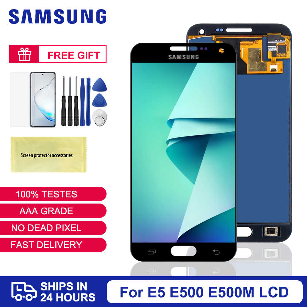 Voor Samsung Galaxy E5 E500 E500F E500H E500HQ E500M Lcd Touch Screen Digitizer Vergadering Voor Samsung E5 E500 Lcd screen
