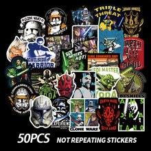 50 шт/компл наклейки из ПВХ «Звездных Войн» с граффити для чемодана
