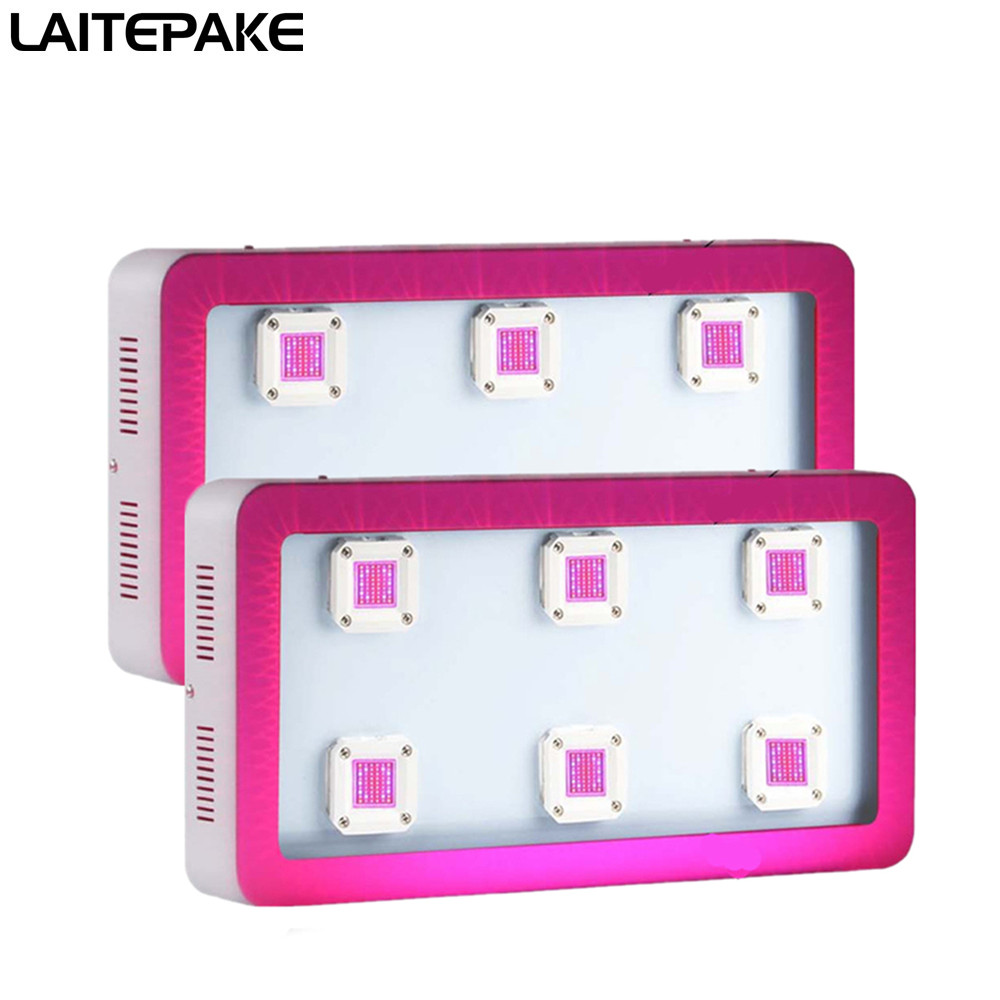 LAITEPAKE 2pcs 1800W COB LED Grow Light Kit  Full Spectrum 410-730nm For Indoor Plant Growing And Flowering With Very High Yield