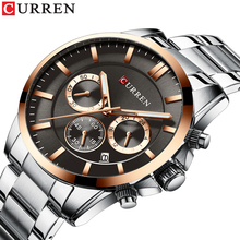 цена на CURREN Watch Men Business Classic Man Watches Stainless Steel 3 Sub Dial Calendar Chronograph Waterproof Relogio Masculino Gift