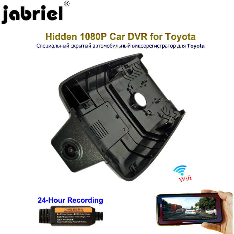 Jabriel 1080P Car Camera dash cam 24 Hour Video recorder dual lens dvr rear camera for Toyota Camry rav4 yaris corolla avensis