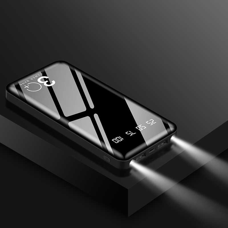 20000mah כוח בנק חיצוני סוללה PoverBank 2 USB LED Powerbank נייד טלפון מטען לxiaomi iphone 7 8X11 x s
