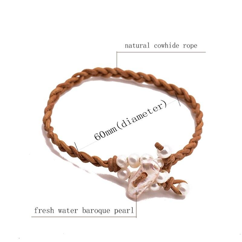 Женский кожаный браслет glseevo роскошные ювелирные изделия