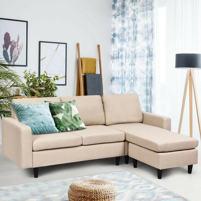 Sectional Fabric L-Shaped Couch  3