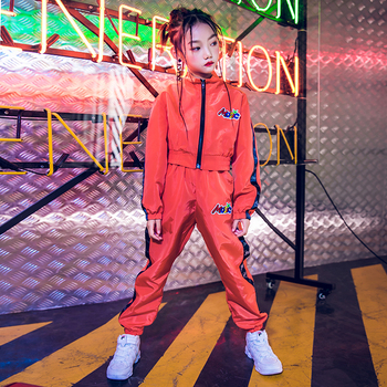 Girls Jazz Street Dance Clothing Outfits Hip-Hop Clothing For Kids Children Jazz Dance Costume Ballroom Dancing Wear DQS3256