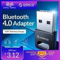 ORICO Mini adaptador inalámbrico USB Bluetooth 4,0 para Windows XP Vista 7/8/10 conectar el ordenador a audífonos con Altavoz Bluetooth Mouse
