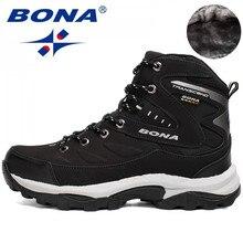 BONA yeni sıcak stil erkekler yürüyüş ayakkabıları kış açık yürüyüş koşu ayakkabıları dağ spor botları tırmanma Sneakers ücretsiz kargo